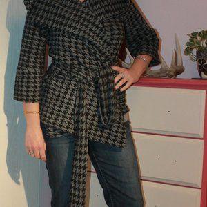 Xteran Houndstooth 3/4 Sleeve Jacket